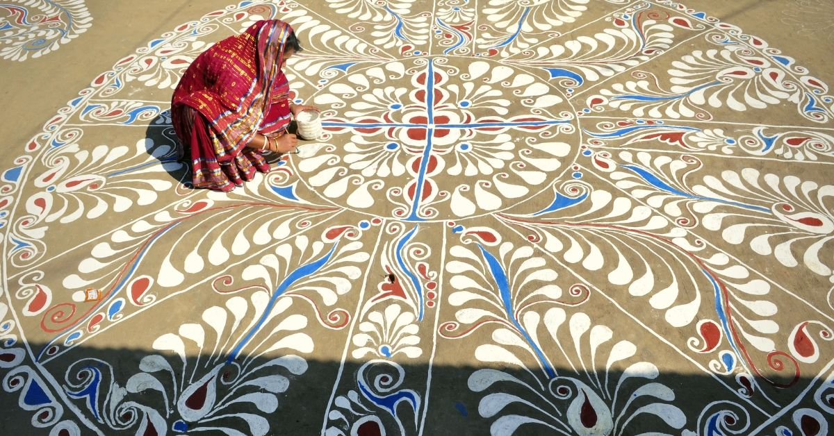 Rice Flour With Dollops of History: Beautiful Pics Of Bengal's Ancient Alpona Art