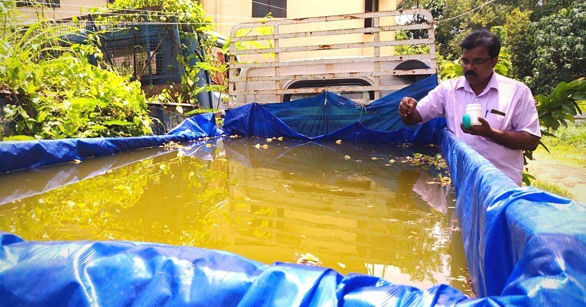 Kerala Cop Turns Seized Lorry Into Fish Pond, Turns Station Into Organic Farm!