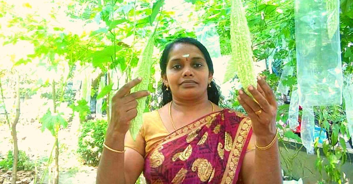 Kerala Woman's Backyard Polyhouse Gives Her Organic Veggies & Rs 20000/Month!