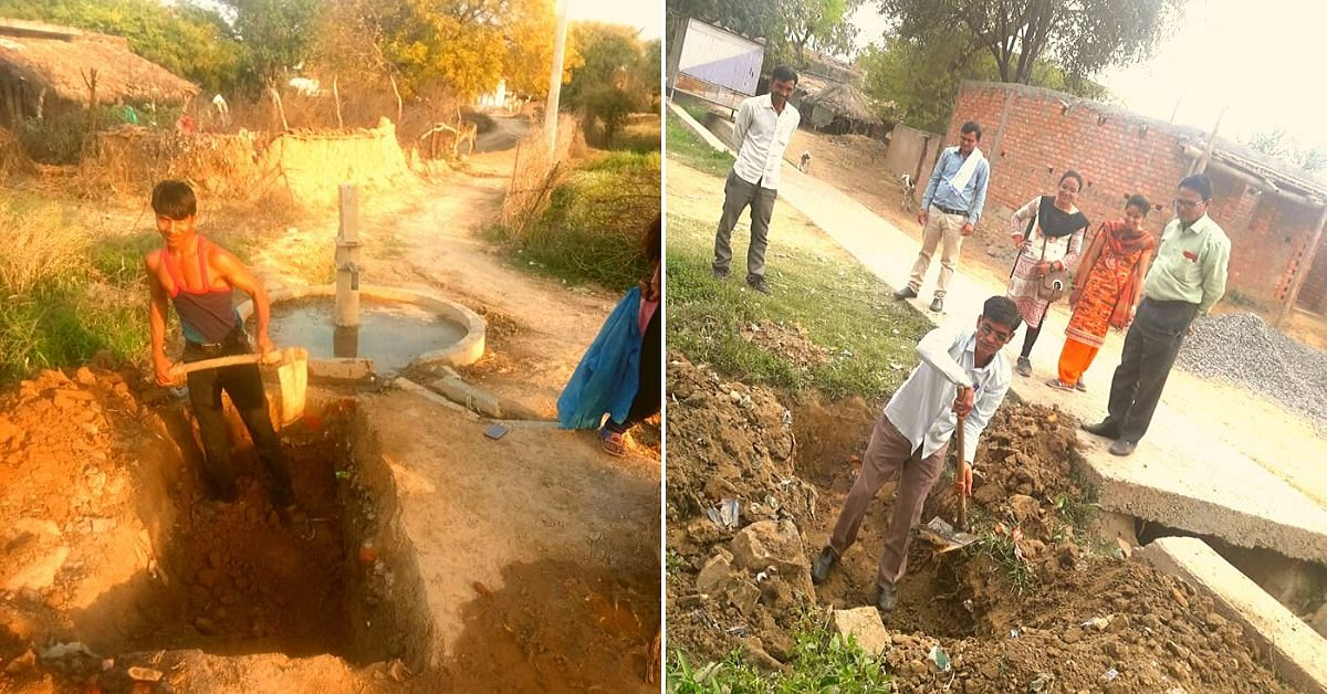 Locals getting involved in the water conservation process.