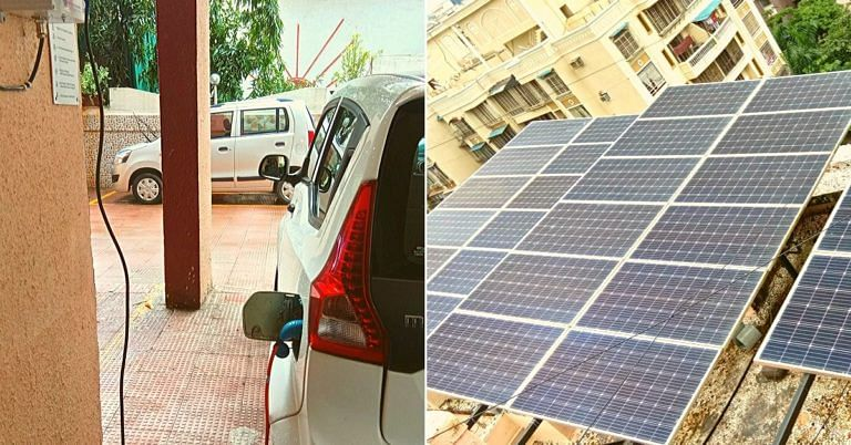 Zero-Energy Mumbai Society Uses Sun to Charge Cars, Cuts Power Bills to 0!