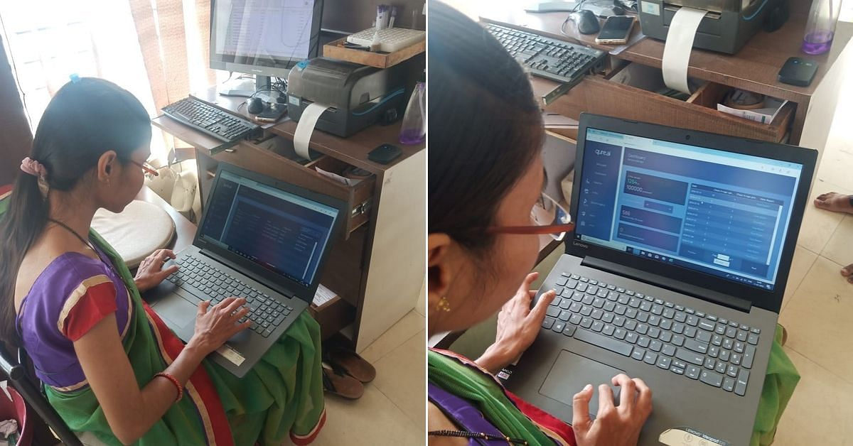 A technician using qXR in a remote location for mass screening. (Source: Qure.ai)
