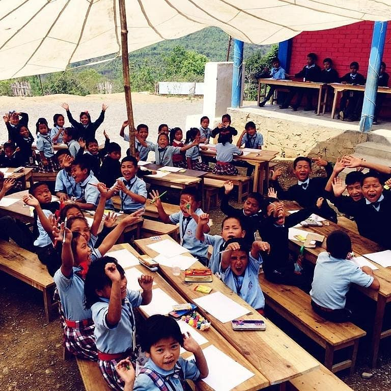 Students at the Lyzon Friendship School in Manipur. (Source: Instagram)