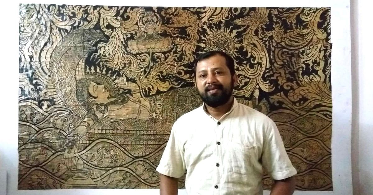 Artist Creates Masterpieces on Dried Banana Leaves That Can Last Upto a Century!