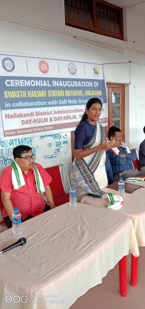 Deputy Commissioner Keerthi Jalli addressing an official gathering. (Source: Halikandi District Administration)