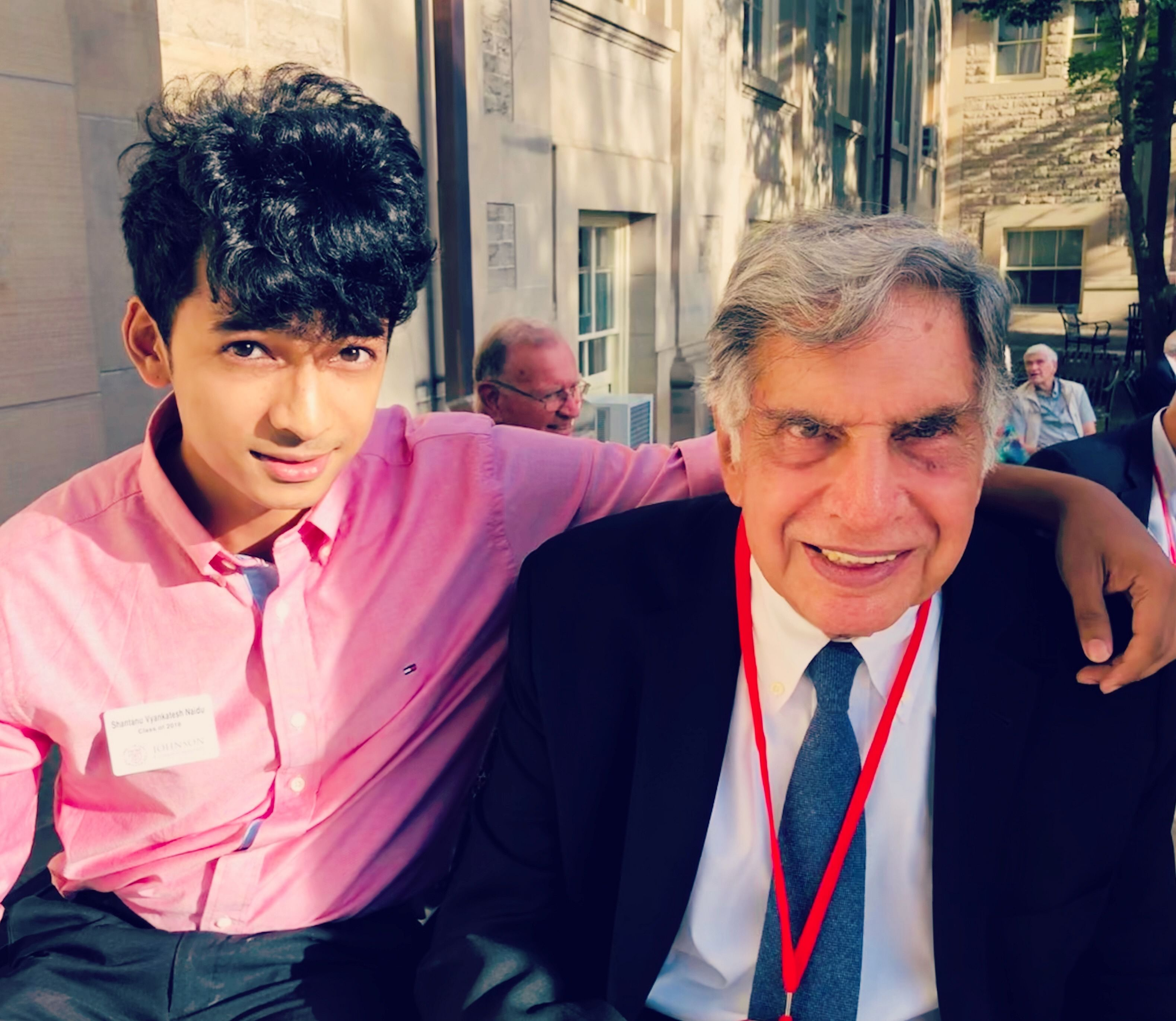 Shantanu Naidu with Mr Ratan Tata. (Source: Shantanu Naidu)