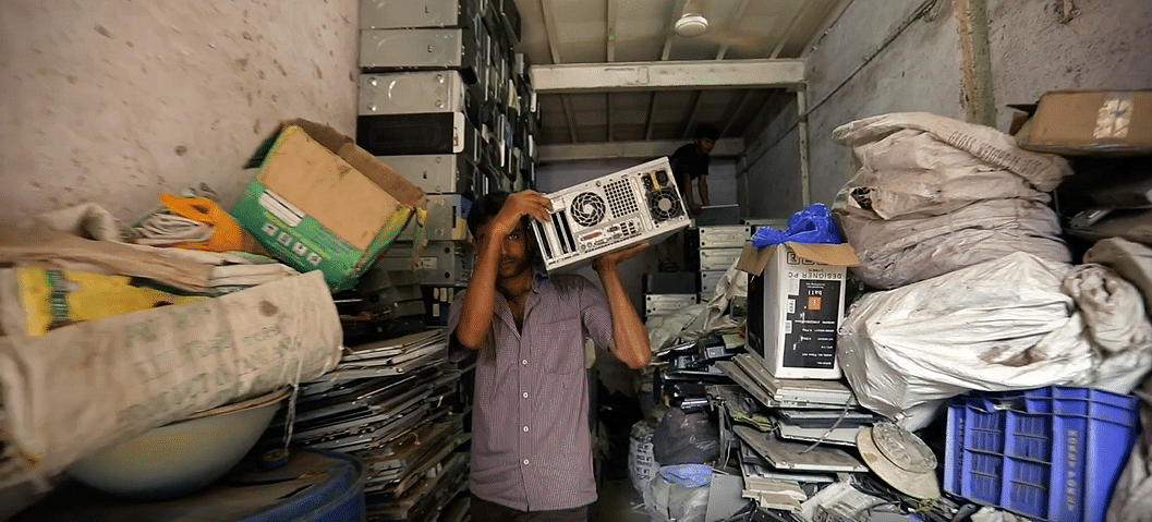 Most e-waste is recycled through the informal sector. (Source: Karo Sambhav)