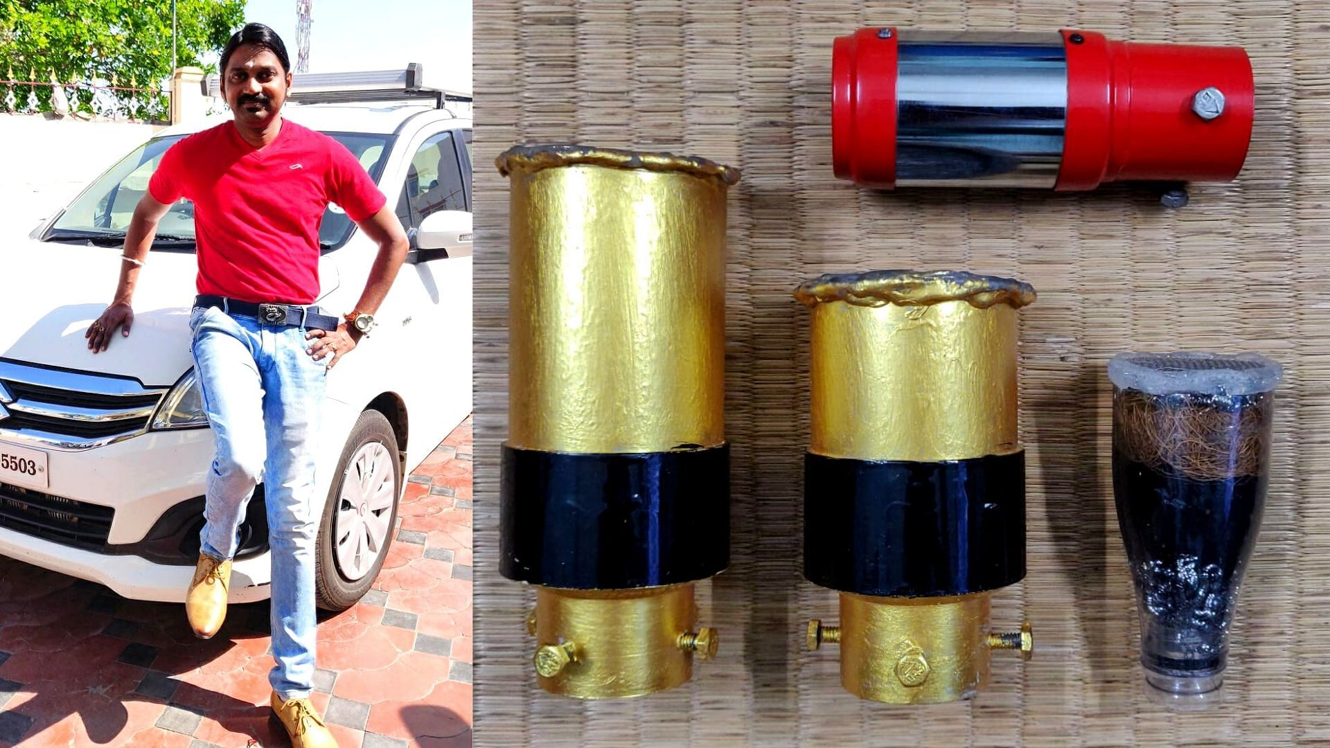 Rs 140 to Solve Air Pollution: TN Man's Coconut Coir Filter Cuts Vehicle Emissions by 40%!