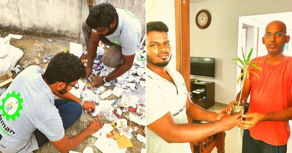 These Chennai Engineers Will Pay You For Your Scrap & Gift You a Sapling!