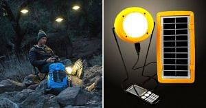 sun solar energy lamp