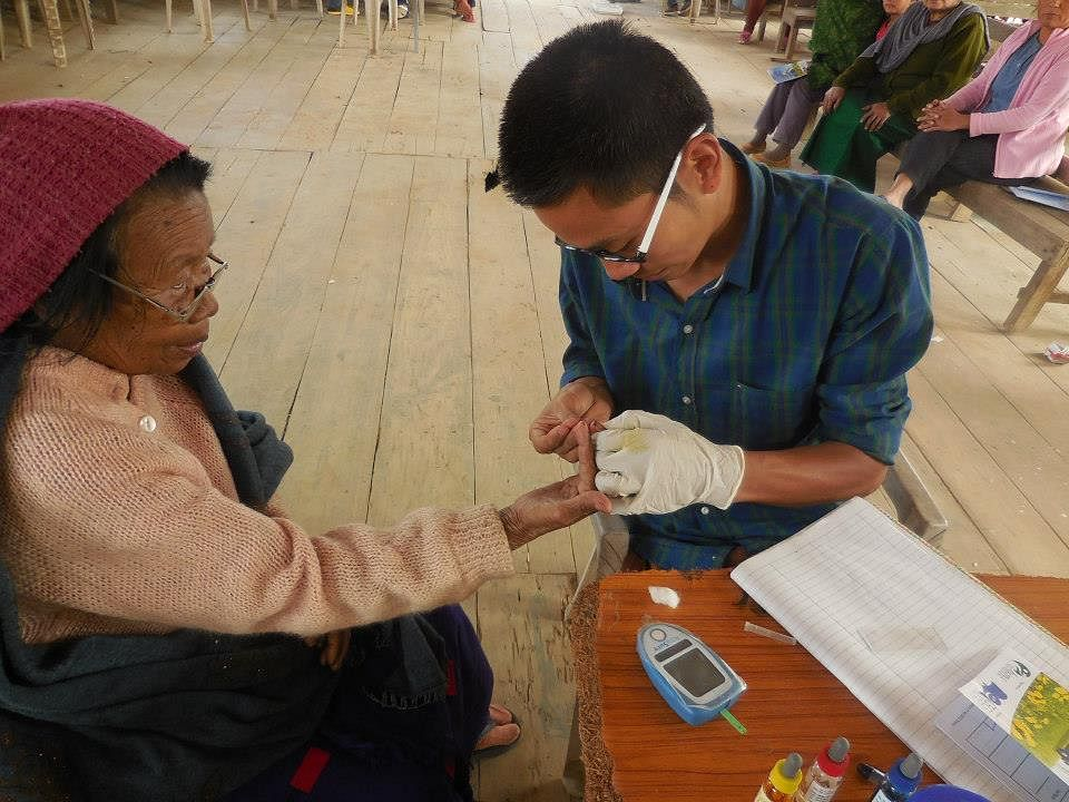 Treating patients in distant villages.