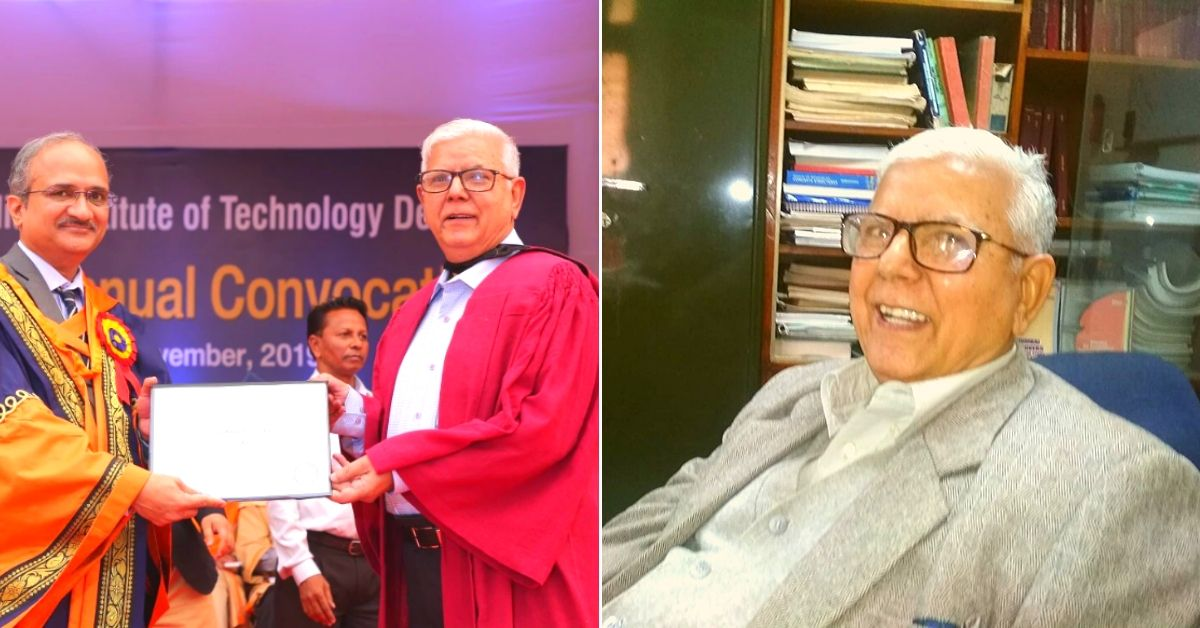 Left: Dr SK Dhawan receiving his degree from the Prof V Ramgopal Rao, Director, IIT Delhi . (Source: IIT-D) Right: Dr SK Dhawan. (Source: Facebook/Sanjay Goel)