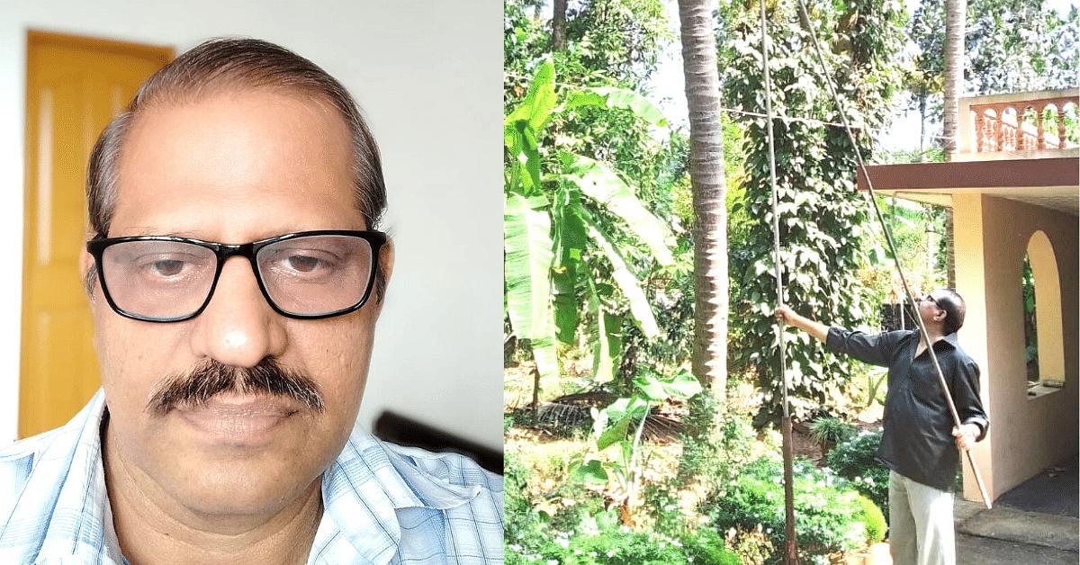 Kerala Professor's Ingenious Innovation Makes Plucking Fruits Pain & Strain Free