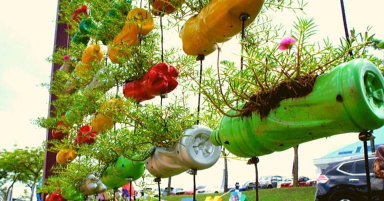 how to reuse plastic bottles at home diy ideas upcycling india 1 768x402