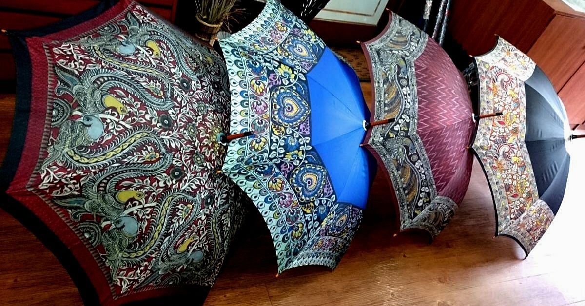 Kalamkari Umbrellas! So You Can Enjoy the Rains with the Rich Taste of India!