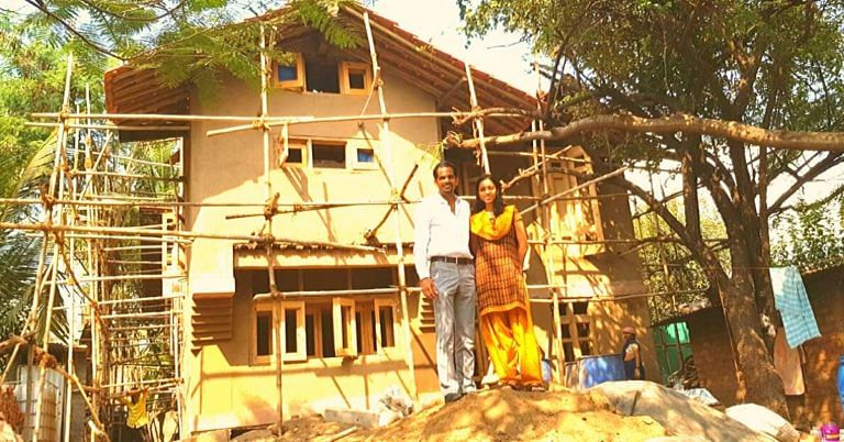 No AC or Fan Needed: This Couple Is Building a Mud House In the Middle of Pune!