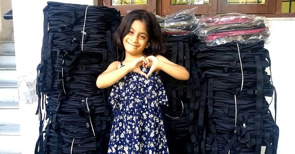 Inspired by Father, 6-YO Nagpur Girl Donates 4800 School Bags to Needy Kids