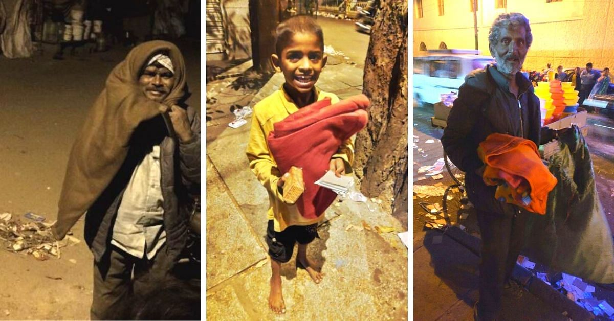 Bengaluru Youngsters Use Warm Blankets To Bring Relief to 300+ Homeless