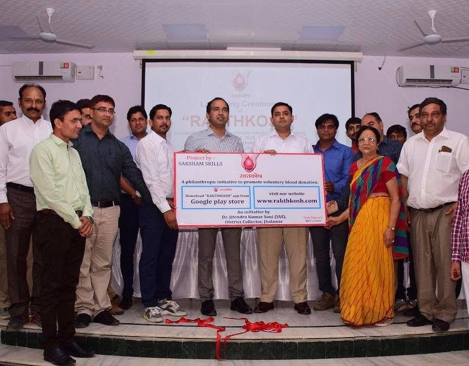 Rajasthan ias hero inspiring initiative shoes underprivileged blood bank india jov30