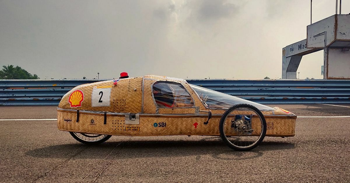Built in 3 Months by Engg Students, This Bamboo Car's Mileage Is 77 Km/Litre!