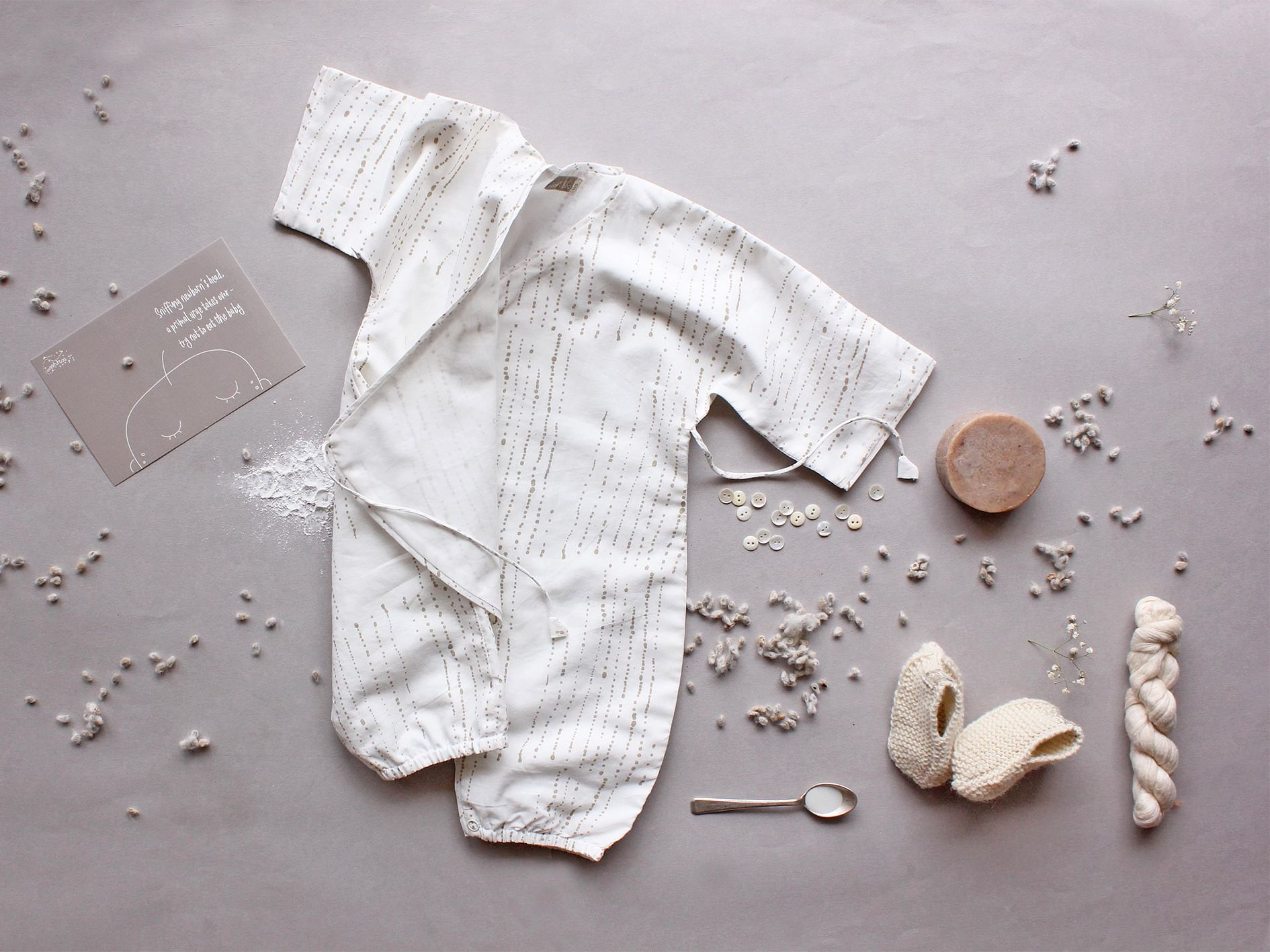 Synthetics Hurt Baby So Mom Makes All Natural Clothes