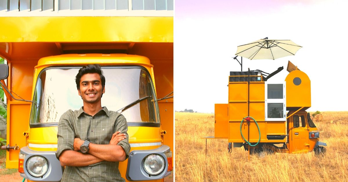 Home Atop an Auto? TN Man Builds Perfect Caravan With Kitchen, Bed & Toilet!