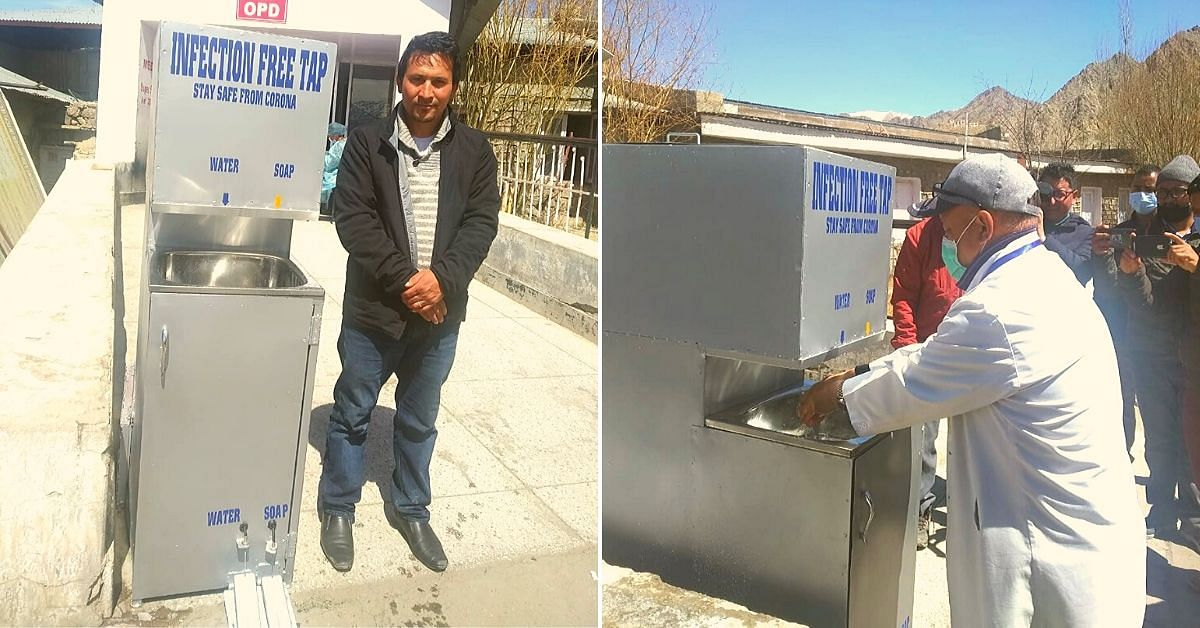 COVID-19: Ladakhi Innovator Makes 'Infection Free Tap' For Doctors in 5 Days!
