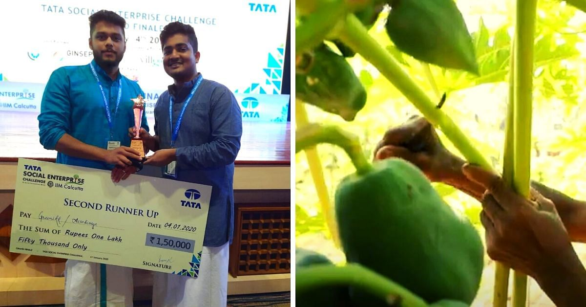 Kerala Techies Make Eco-friendly Papaya Straws That Last For 6 Months!