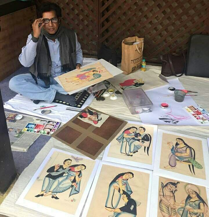 In Photos: Bengal Postmaster Single-handedly Revives Dying Art of Kalighat