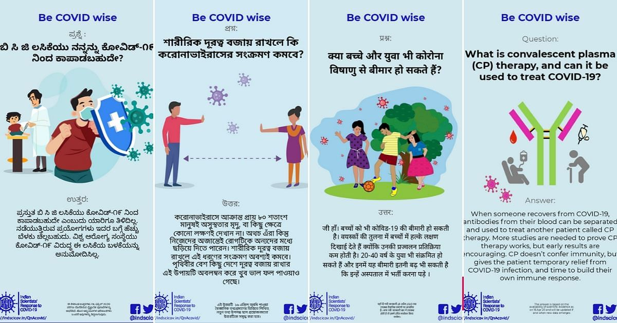 Indian Scientists' Response to COVID-19