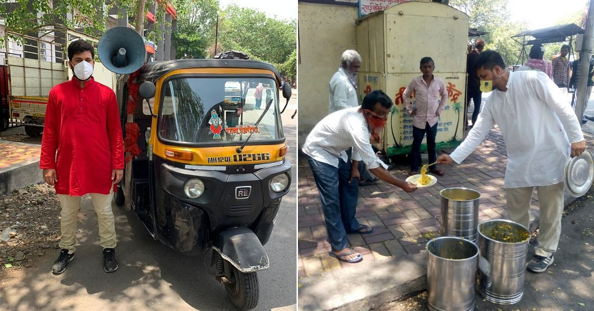 Pune Auto Driver Spends Rs 2L from Wedding Fund to Feed 350+ Daily