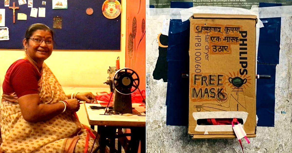 Delhi Homemaker & Her Son Set Up 'Mask Dispensaries,' Stitch 1200+ Masks for Free