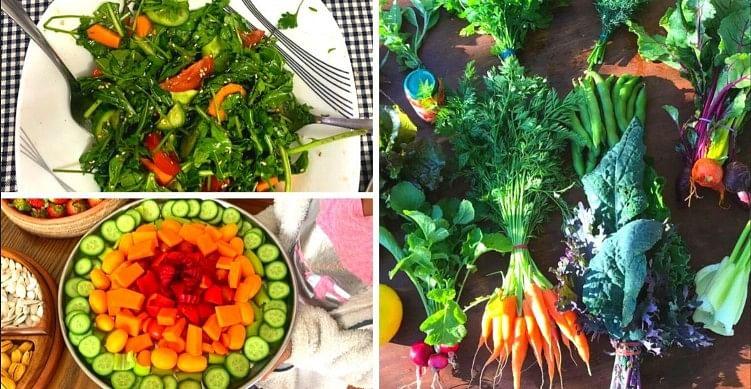 Fresh harvest from Dr Biradar's garden