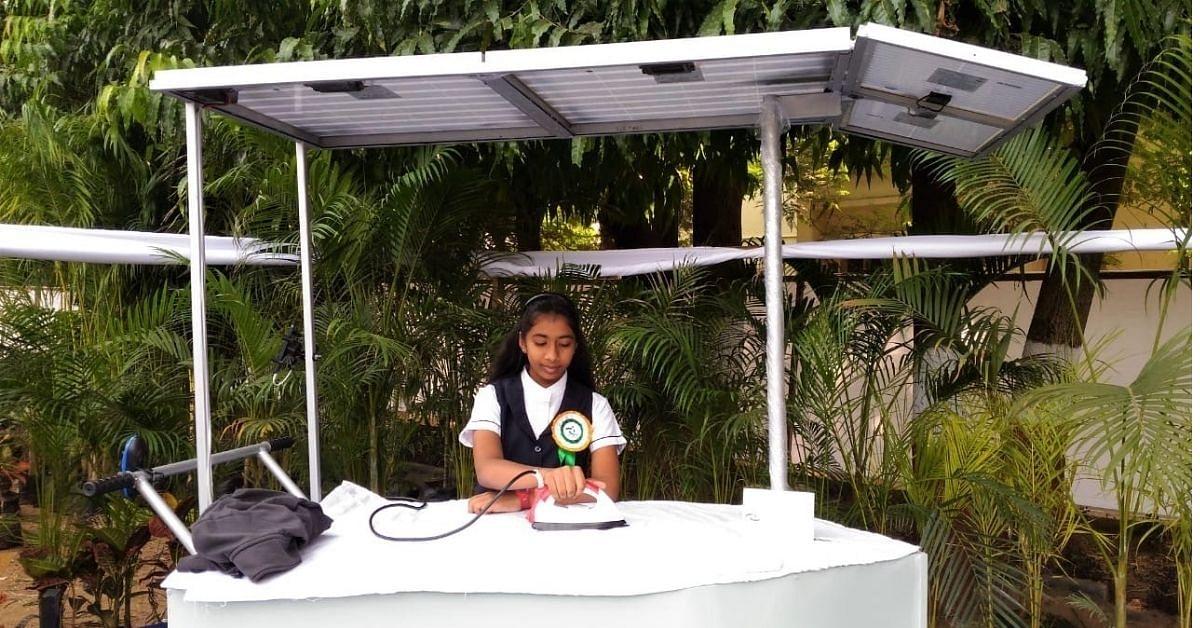 Tamil Nadu school Girl Wins Global Award For Designing Solar Ironing Cart