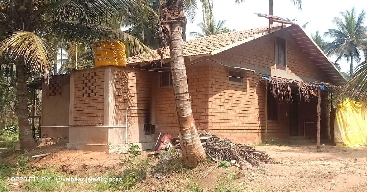As casas sem resíduos de Mysuru Man feitas de entulho de construção não precisam de ventiladores ou ACs 5
