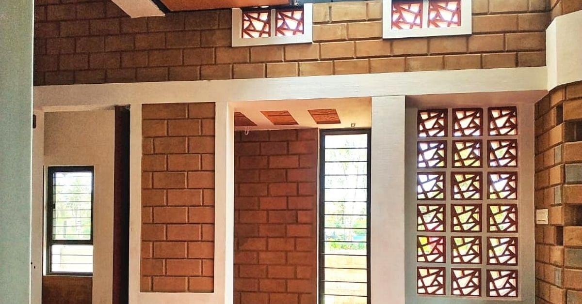 As casas sem resíduos de Mysuru Man feitas de entulho de construção não precisam de ventiladores ou ACs 4