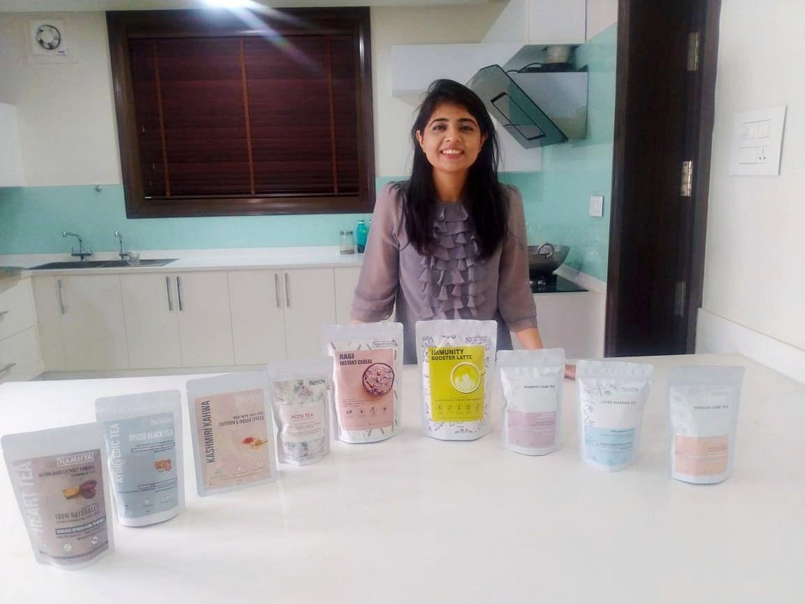 Jammu girl makes ayurvedic snacks