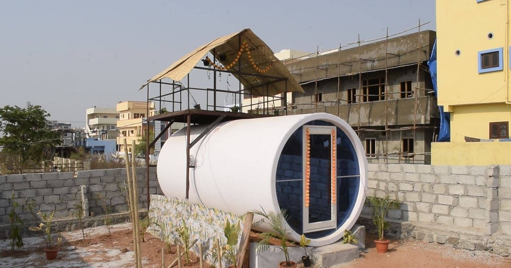 Low cost home from sewage pipe