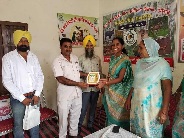 Kalpana K being honored to save blackbucks  Real Life Sherni