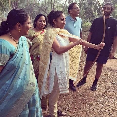 One of the visit of Sirisha Bandla in India
