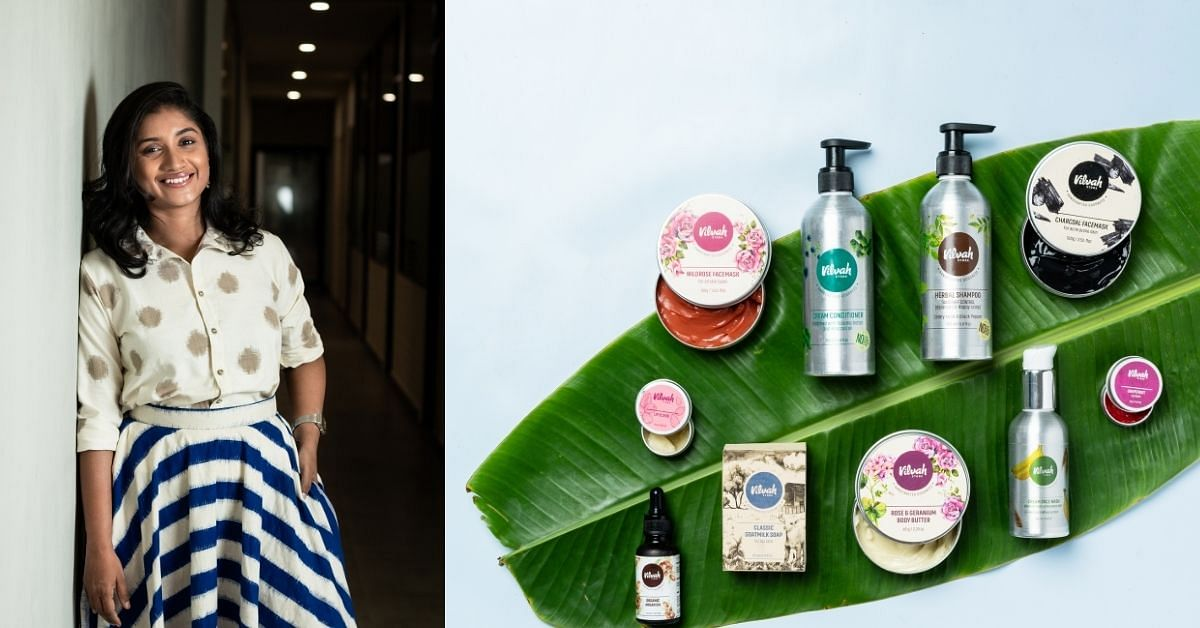 woman entrepreneur and natural skincake products